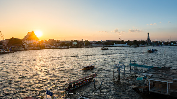Wat Kalayanamitr, Wat Arun and Chao Phraya River
