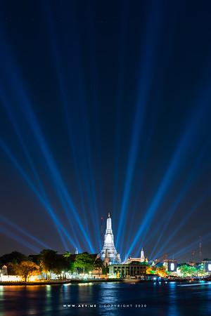 Wat Arun, and Chao Phraya River