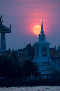 Sunset at Wat Kalayanamitr