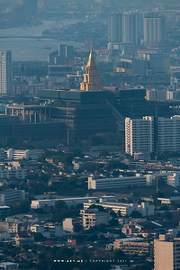 Sappaya-Sapasathan (The Parliament of Thailand) view from Baiyoke Sky Hotel