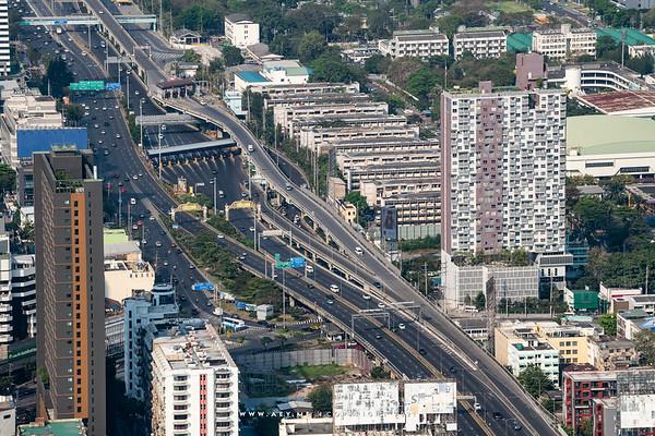 Bangkok Express Way view from Baiyoke Sky Hotel