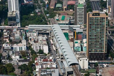Airport Rail Link & Bangkok Cityscape view from Baiyoke Sky Hotel