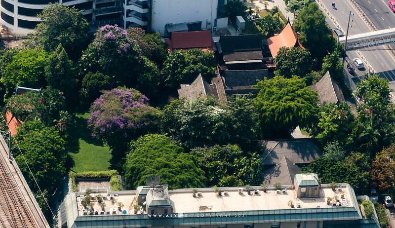 Suan Pakkad Palace Museum & Bangkok Cityscape view from Baiyoke Sky Hotel