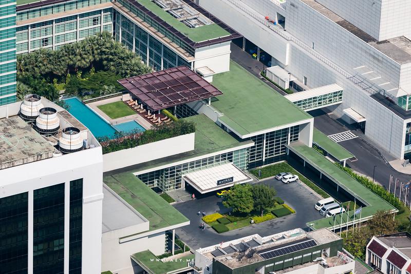 King Power Rangnam & Bangkok Cityscape view from Baiyoke Sky Hotel