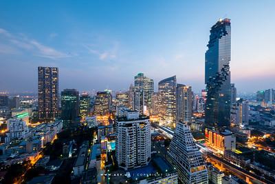 King Power Mahanakhon & Bangkok Cityscape view from Bangkok Bank Head Office Building