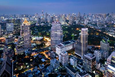 Cityscape of Bangkok view from Banyan Tree Bangkok