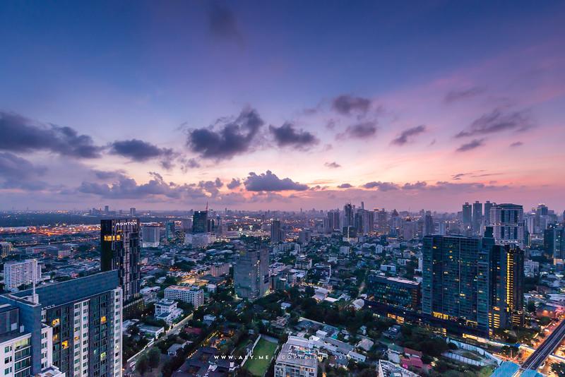 Bangkok view from the Octave at Marriott Hotel Sukhumvit