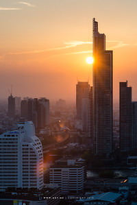 The River Condominium and the Cityscape of Thonburi view from Mode Sathorn
