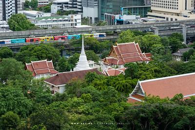 Wat Pathum Wanaram view from Centara Grand at CentralWorld