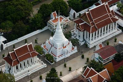 Wat Pathum Wanaram view from Red Sky, Centara Grand at CentralWorld