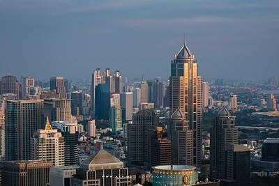 Bangkok Cityscape view from Red Sky, Centara Grand at CentralWorld