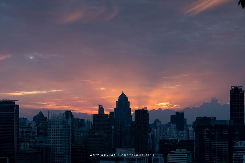 Cityscape of Bangkok view from Samyan MitrTown