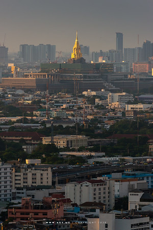 Sappaya-Sapasathan and Cityscape of Bangkok view from Samyan MitrTown