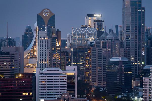 Cityscape of Bangkok view from So Bangkok