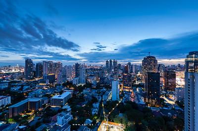 Bangkok Cityscape view from The Waterford Diamond SuKhumvit 30/1 Condominium