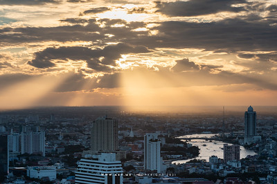 Cityscape of Bangkok view from United Center Building