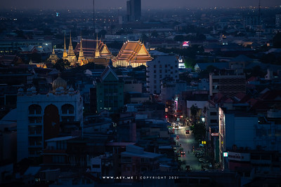 Wat Pho and the Cityscape of Bangkok