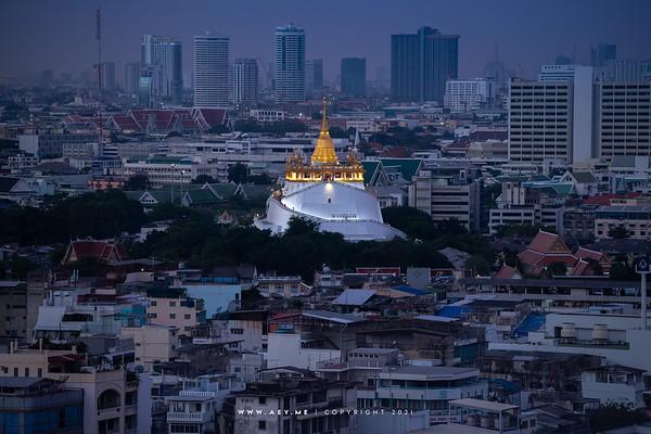 Phu Khao Thong, Wat Saket
