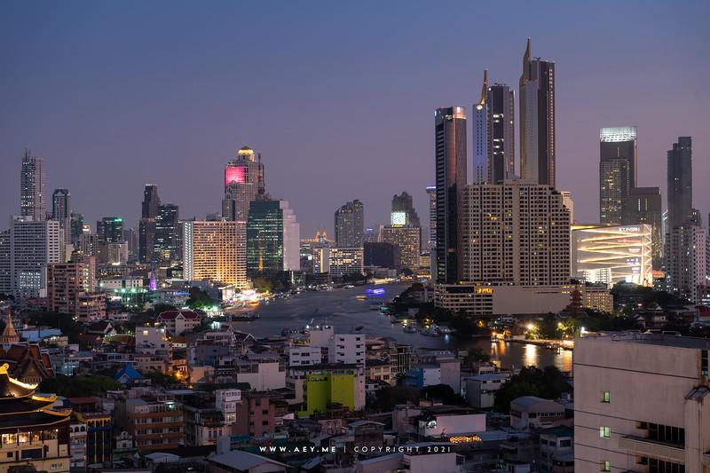 Cityscape of Bangkok view from Grand China Hotel Bangkok