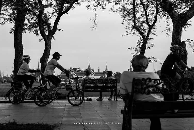 People of Bangkok at Sanam Luang