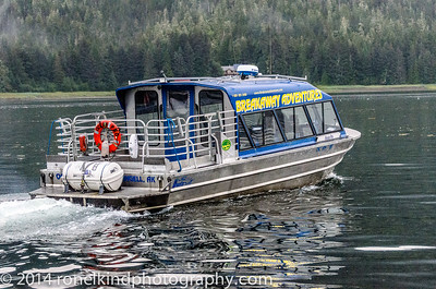 Taking the Jet Boat up the Stikine River to LeConte Glacier.