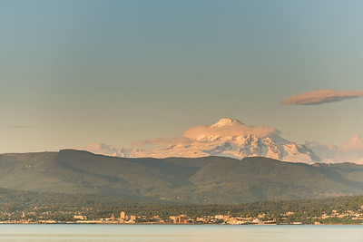Sunset on Bellingham and Mt Baker