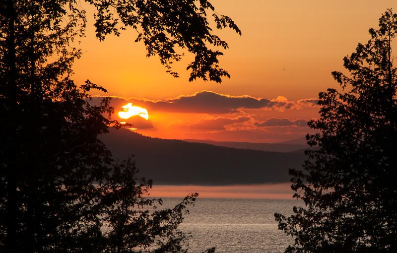 Lake Mist at Sunset