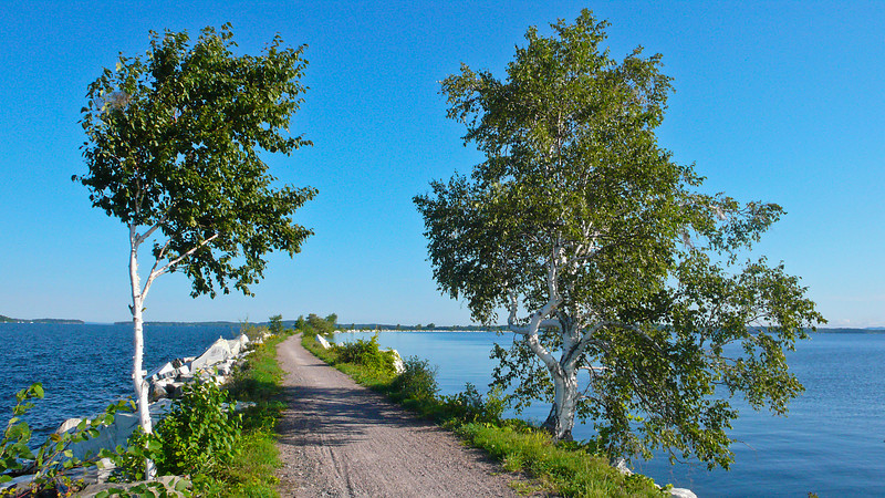 Summer on the Causeway, Colchester, Vermont