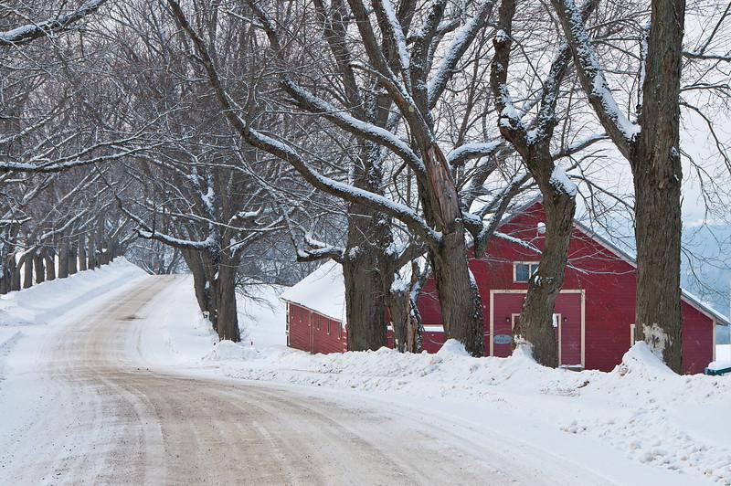 Winter Barn in Burke