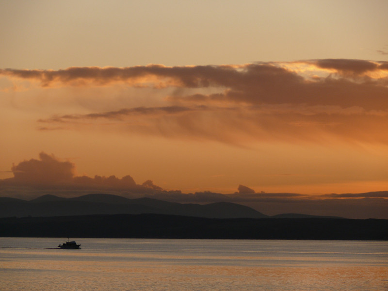 Sunset at Wemyss Bay.<br /> 8th November 2009