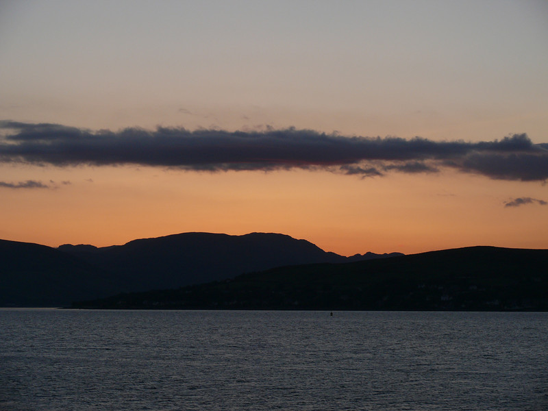 Sunset from Greenock Esplanade.<br /> 25th May 2008