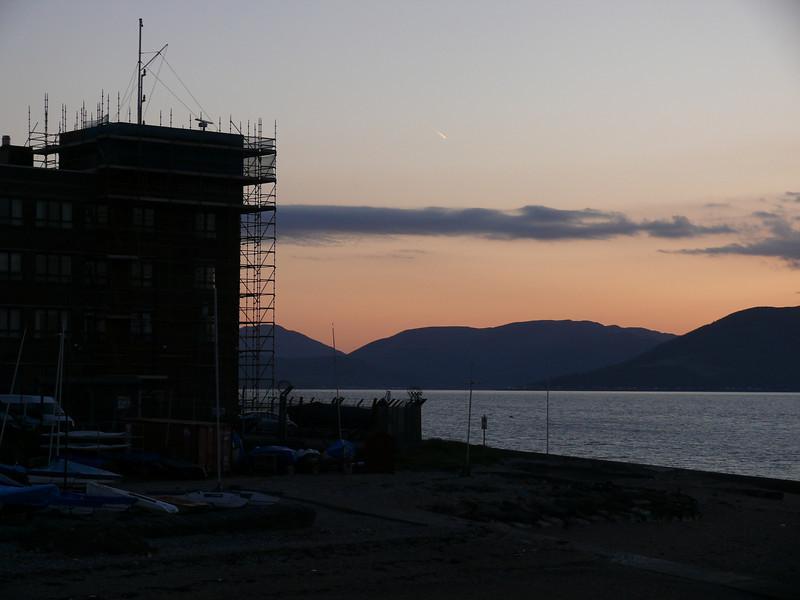Sunset from Greenock Esplanade.<br /> 25th May 2008