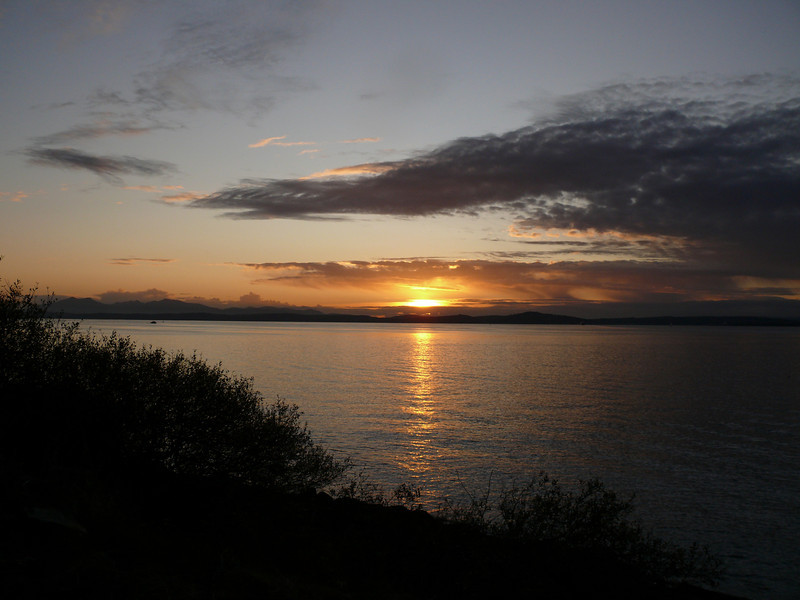 Sunset at Wemyss Bay.<br /> 8th November 2009
