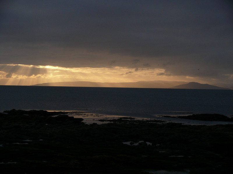 Sunset off Troon.<br /> 27th February 2010.