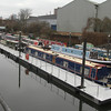 Canal boats at Three Mills Wall river