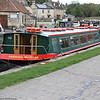 Along the Kennet/Bradford and Avon Canal - Barbara McLellan at Bradford on Avon being prepared for the day's cruise
