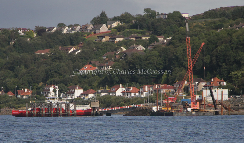 2nd linkspan being installed at McInroy's point for Western Ferries