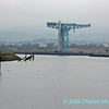 Titan crane at Clydebank from Renfrew Golf Course walkway