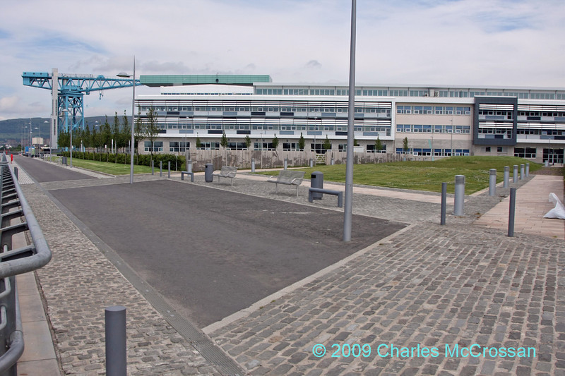 Clydebank College Grounds - two ship launch ways paths