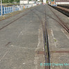 Rail tracks leading off Fairlie Pier