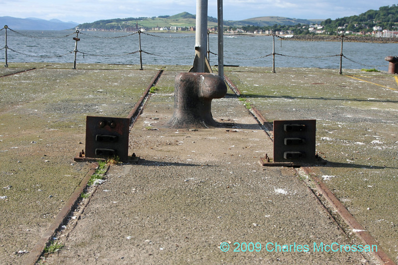 Buffer stops on Fairlie Pier