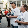 Penny Mauch and Ron Breau, the parents of Travis Breau, who died of a drug overdose in early May, listen to speakers during the candlelight vigil held in his honor on Friday, May 19, 2017. SENTINEL & ENTERPRISE / Ashley Green