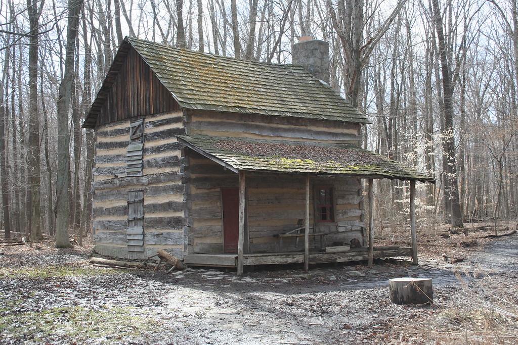 Outdoor education 19th century log cabin