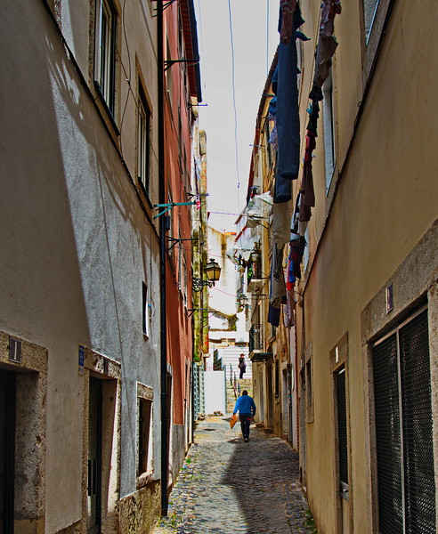 Typical Street in the Alfama