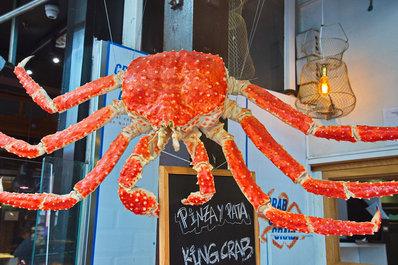 King Crab Used for Advertisement