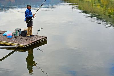 Blue Shirted Fisherman