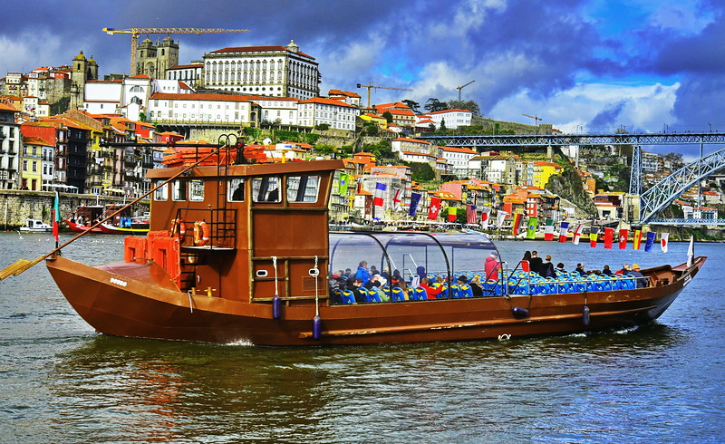 Rabelo Boat on the Douro River