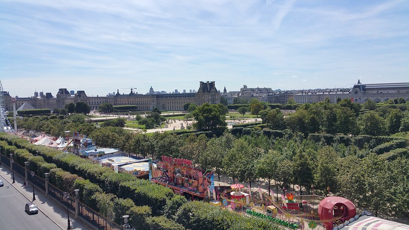 The amusement park for summer vacationers in the Tuillieries across from my hotel room.