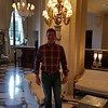 Tom Baker in the lobby of Le Meurice.