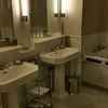 The spacious master bathroom.